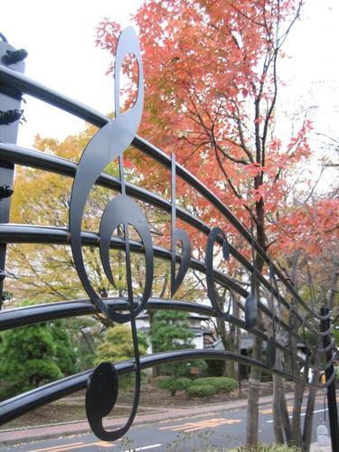 高崎音楽堂の庭